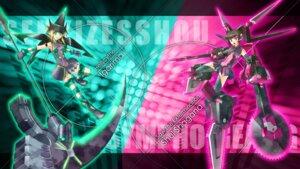 Rating: Safe Score: 8 Tags: akatsuki_kirika armor bodysuit chainsaw mecha mecha_musume senki_zesshou_symphogear senki_zesshou_symphogear_g tsukuyomi_shirabe weapon User: WhiteExecutor