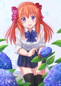 Rating: Questionable Score: 53 Tags: gekkan_shoujo_nozaki-kun kazenokaze sakura_chiyo thighhighs wet_clothes User: sylver650