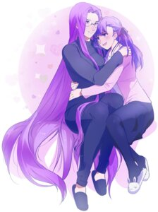 Rating: Safe Score: 9 Tags: fate/stay_night matou_sakura megane rider tagme thighhighs yuri User: Radioactive