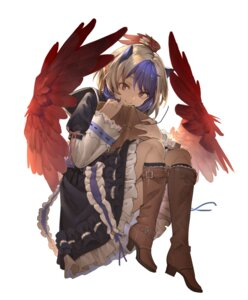 Rating: Safe Score: 30 Tags: eho_(icbm) heels horns pointy_ears tokiko touhou wings User: Mr_GT