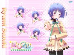 Rating: Safe Score: 5 Tags: hoshiful ikegami_akane megane seifuku suzuki_ryumi wallpaper User: admin2