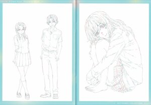 Rating: Safe Score: 8 Tags: crease feet fixme koe_no_katachi line_art megane raw_scan seifuku User: yswysc