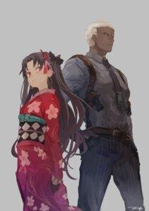 Rating: Safe Score: 25 Tags: emiya_alter fate/grand_order gun ishtar_(fate/grand_order) kimono kouzuki_kei toosaka_rin User: nphuongsun93