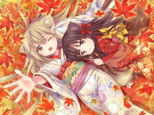 Rating: Questionable Score: 34 Tags: amano_sakuya animal_ears kimono konohana_kitan sakura_(konohana_kitan) tail yuzu_(konohana_kitan) User: marshmallow