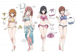 Rating: Questionable Score: 43 Tags: adagaki_aki bikini character_design cleavage fujinomiya_neko futaba_tae koiwai_yoshino masamune-kun_no_revenge sketch swimsuits tiv User: zyll