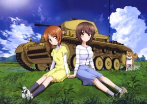 Rating: Safe Score: 13 Tags: dress girls_und_panzer nishizumi_maho nishizumi_miho User: drop