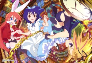 Rating: Safe Score: 55 Tags: alice_in_wonderland animal_ears bunny_ears cosplay dress fishnets flip_flappers heels kojima_takashi kokomine_cocona nekomimi papika tail thighhighs yayaka User: drop