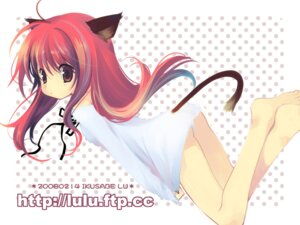 Rating: Questionable Score: 25 Tags: animal_ears ikusabe_lu loli nekomimi pantsu tail wallpaper User: fireattack