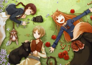 Rating: Safe Score: 16 Tags: animal_ears ayakura_juu chloe holo nora_ardent spice_and_wolf tail User: Radioactive