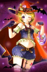 Rating: Safe Score: 27 Tags: aoi_(kiyokiyoaomushi) bloomers halloween koizumi_hanayo love_live! stockings thighhighs witch User: Mr_GT