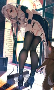 Rating: Questionable Score: 151 Tags: ass cameltoe cleavage heels hiiragi_ringo maid pantsu skirt_lift stockings thighhighs User: sym455