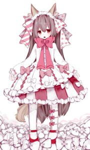 Rating: Safe Score: 29 Tags: animal_ears dress kitsune nachi pantyhose tail User: Zenex