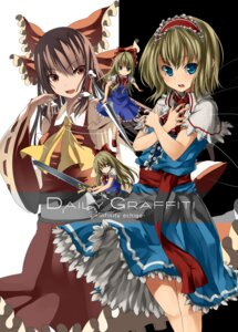 Rating: Safe Score: 6 Tags: alice_margatroid hakurei_reimu kureha_(ironika) shanghai touhou unasaka User: Yuffie