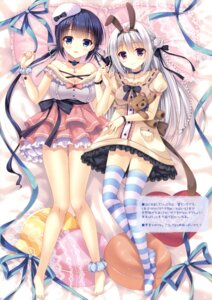 Rating: Safe Score: 89 Tags: animal_ears bunny_ears cleavage dress feet kotone_suzushiro mitsu_king sem;colon thighhighs yurina_aoi User: Twinsenzw
