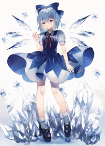 Rating: Questionable Score: 23 Tags: abandon_ranka cirno heels skirt_lift touhou wings User: Dreista
