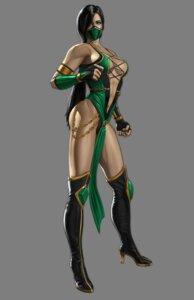 Rating: Questionable Score: 9 Tags: cleavage heels jade leotard mortal_kombat ninja no_bra tagme thighhighs User: Yokaiou