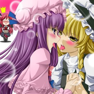 Rating: Safe Score: 26 Tags: kirisame_marisa koakuma mino106 patchouli_knowledge touhou yuri User: Mr_GT