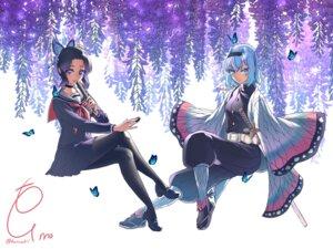 Rating: Safe Score: 23 Tags: cosplay crossover fumo_(homosukii) kimetsu_no_yaiba kochou_shinobu pantyhose ryuuou_no_oshigoto! seifuku sora_ginko sword User: Mr_GT