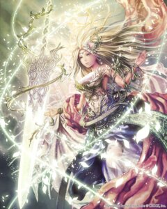 Rating: Safe Score: 56 Tags: anbe_yoshirou deity_wars dress gaia_selphi sword User: blooregardo