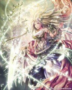 Rating: Safe Score: 56 Tags: anbe_yoshirou deity_wars dress gaia_selphi sword User: blooregardo