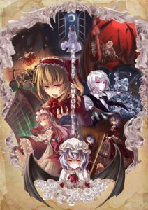 Rating: Safe Score: 8 Tags: dress far_eastern_union flandre_scarlet izayoi_sakuya patchouli_knowledge remilia_scarlet touhou wings User: Radioactive