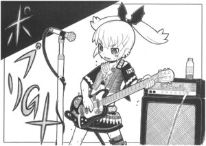 Rating: Safe Score: 6 Tags: guitar jpeg_artifacts kage_shoujo_g monochrome User: oldwrench