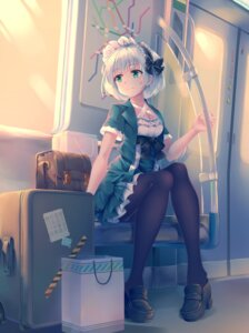 Rating: Safe Score: 35 Tags: cleavage heels konpaku_youmu mechrailgun pantsu pantyhose skirt_lift touhou User: Mr_GT