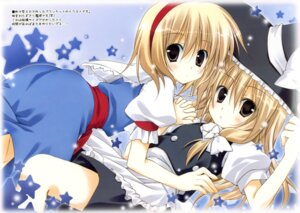 Rating: Safe Score: 37 Tags: alice_margatroid kirisame_marisa korie_riko mujin_shoujo touhou yuri User: blooregardo