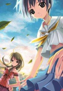 Rating: Safe Score: 8 Tags: kodama_hibiki memories_off mikazuki_akira momose_tamaki omoide_ni_kawaru_kimi_memories_off seifuku tri-moon! User: Radiosity