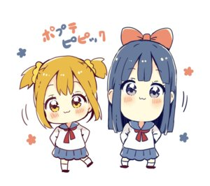 Rating: Safe Score: 15 Tags: chibi pipimi pop_team_epic popuko sakura_oriko seifuku User: mash