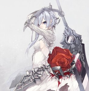 Rating: Safe Score: 78 Tags: blood dress senmu sinoalice snow_white_(sinoalice) sword User: Mr_GT