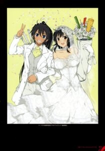 Rating: Questionable Score: 17 Tags: asuka_(senran_kagura) cleavage crossdress dress homura_(senran_kagura) senran_kagura sword wedding_dress yaegashi_nan yuri User: kiyoe
