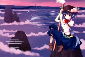 Rating: Safe Score: 8 Tags: chocolate_cube fixed hinanawi_tenshi miwa_futaba sword touhou User: cosmic+T5