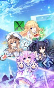 Rating: Safe Score: 47 Tags: blanc choujigen_game_neptune cleavage neptune noire thighhighs tsunako vert User: HyperD