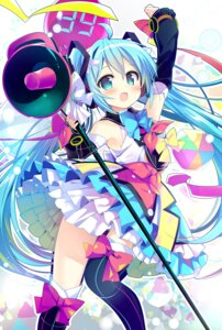 Rating: Safe Score: 38 Tags: hatsune_miku headphones nagayama_yuunon thighhighs vocaloid User: RyuZU