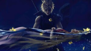 Rating: Questionable Score: 13 Tags: aerith_gainsborough cloud_strife final_fantasy possible_duplicate sword wet wlop User: wlop