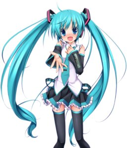 Rating: Safe Score: 60 Tags: eto hatsune_miku lucie thighhighs vocaloid User: Nekotsúh