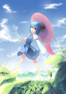 Rating: Safe Score: 14 Tags: heterochromia tan_(artist) tatara_kogasa touhou umbrella User: charunetra