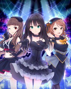 Rating: Safe Score: 50 Tags: breast_hold cleavage dress houjou_karen kamiya_nao kokitsune pantyhose shibuya_rin the_idolm@ster the_idolm@ster_cinderella_girls User: mash
