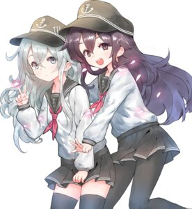 Rating: Safe Score: 43 Tags: akatsuki_(kancolle) battle_koala hibiki_(kancolle) kantai_collection pantyhose seifuku thighhighs User: nphuongsun93