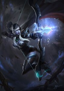Rating: Safe Score: 35 Tags: armor cleavage defense_of_the_ancients drow_ranger tagme thighhighs weapon User: Radioactive