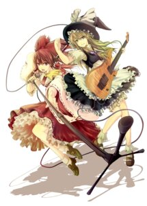 Rating: Safe Score: 10 Tags: hakurei_reimu kirisame_marisa nure_amanattou touhou User: Mr_GT
