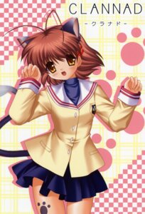 Rating: Safe Score: 5 Tags: animal_ears clannad furukawa_nagisa hinoue_itaru nekomimi seifuku tail User: admin2