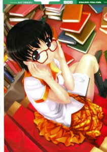 Rating: Safe Score: 13 Tags: megane mikazuki_akira seifuku User: cheese