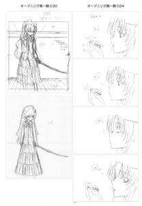 Rating: Safe Score: 2 Tags: aisaka_taiga kawashima_ami monochrome sketch toradora! User: superogira