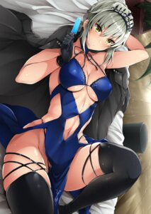 Rating: Safe Score: 56 Tags: cleavage fate/grand_order pantsu saber saber_alter stem thighhighs underboob User: Mr_GT