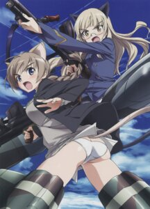 Rating: Questionable Score: 20 Tags: ass lynette_bishop megane pantsu pantyhose perrine-h_clostermann screening strike_witches takamura_kazuhiro User: Velen
