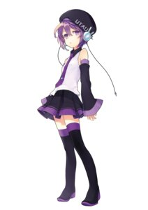 Rating: Safe Score: 21 Tags: defoko headphones renta thighhighs utau User: charunetra