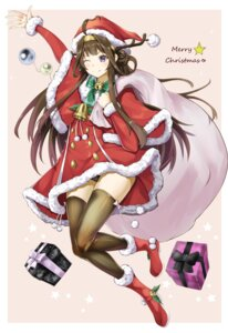 Rating: Safe Score: 28 Tags: christmas dress heels kantai_collection kasoke_no_tsubasa kongou_(kancolle) pantsu thighhighs User: Mr_GT