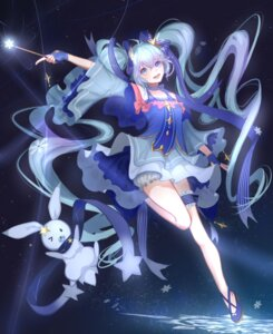 Rating: Safe Score: 30 Tags: bloomers dress garter hatsune_miku iron_(2486886134) vocaloid yuki_miku User: charunetra